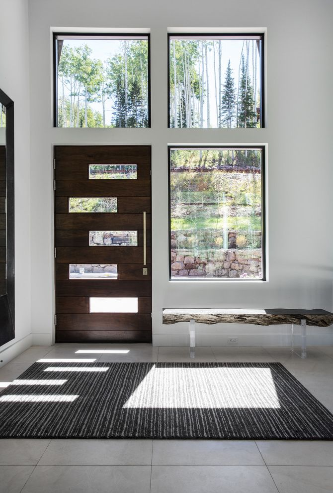 Jeld Wen Garden Window with Contemporary Entry Also Area Rug Asymmetrical Raw Edge Bench Windows