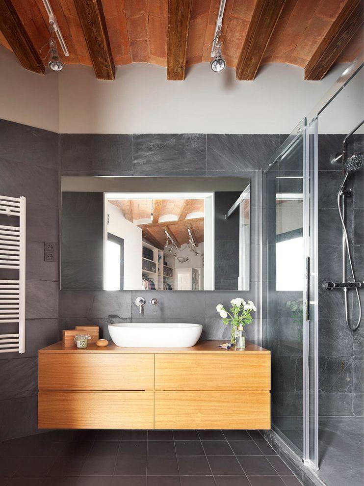 Jerome's El Cajon   Contemporary Bathroom  and Colores Complementos Decoracin Estilo Exposed Beams Glass Door Iluminacin Madera Sliding Glass Door Textiles Track Lighting