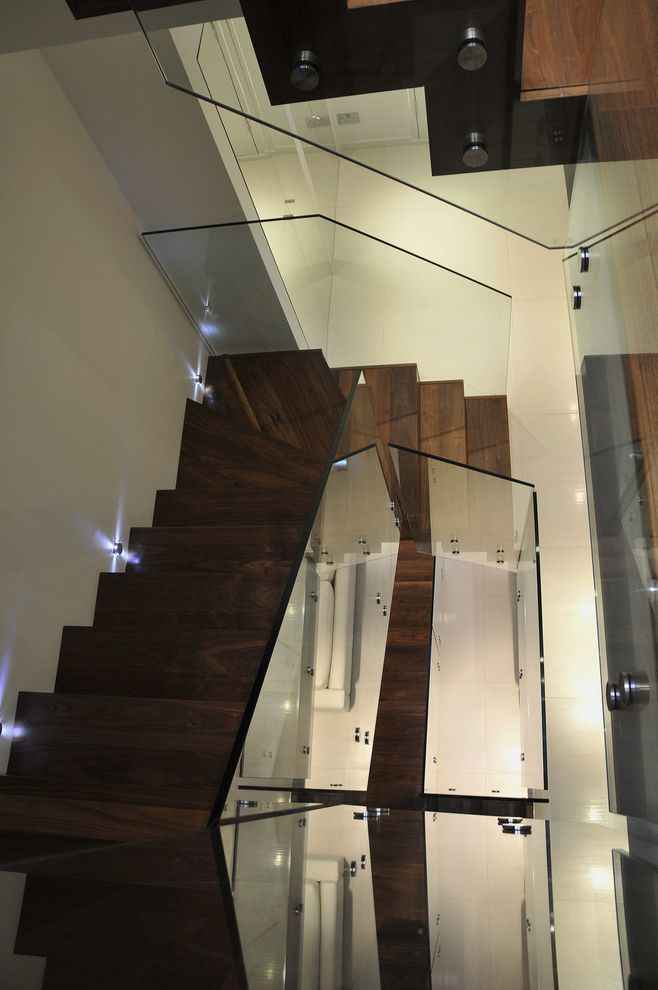 Jes Construction   Modern Staircase  and Glass Balustrade Glass Railing Modern Railing Modern Staircase Stair Lights Staircase Staircase Manufactuer Uplighting Wood Staircase