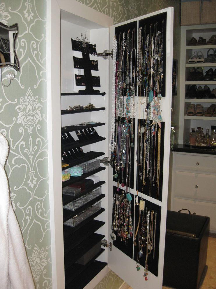 Jewelry Armoire with Lock and Key    Closet Also