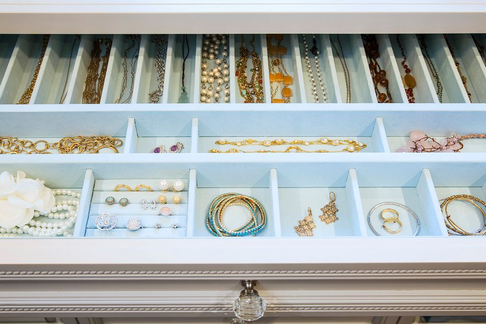 Jewelry Armoire with Lock and Key   Traditional Closet  and Closet Closet Design Drawer Jewelry Jewelry Drawer La Closet Design Organization Suede Jewelry Drawer