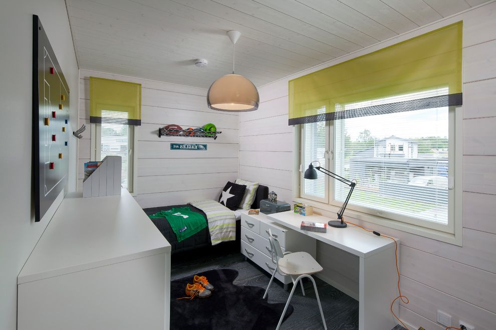 Joanna Gaines Age   Scandinavian Kids  and 7 Year Old Boys Bedroom Bedroom Desk Boys Bedroom Childs Room Funky Teen Bedroom Kids Desk Kids Bedroom Student Room White Bedroom Walls White Painted Wood White Walls