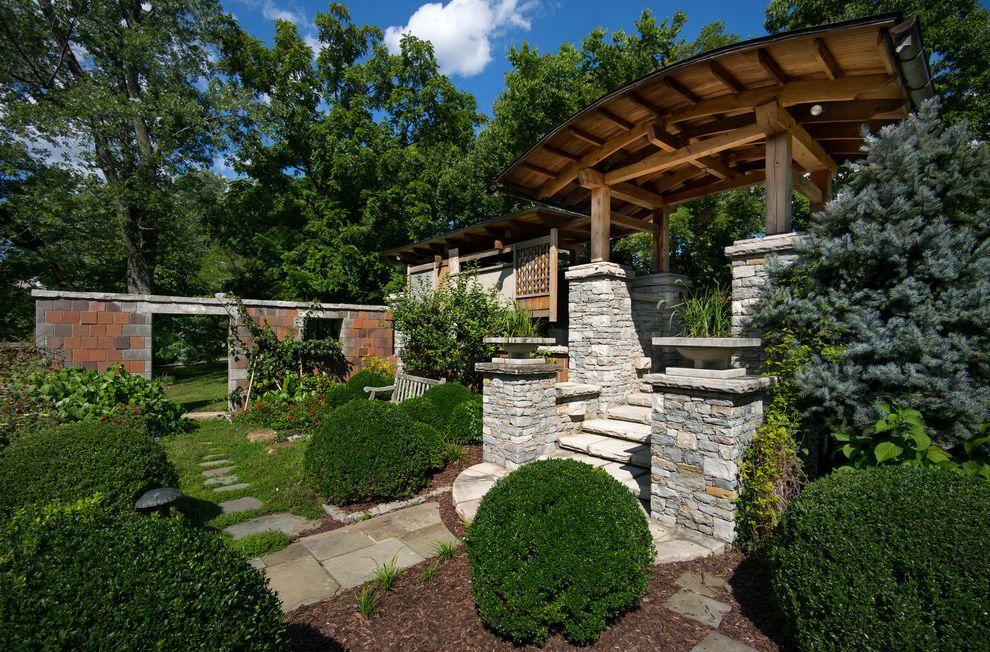 Joe Hayden Realtor   Craftsman Landscape  and Custom Garden Hedges Path Privacy Wall Shrubs Walkway