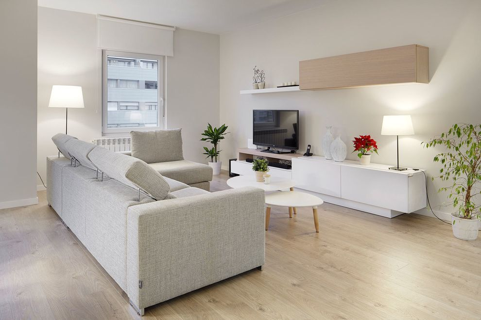 Jon Van Salon with Scandinavian Family Room Also Reforma Vivienda