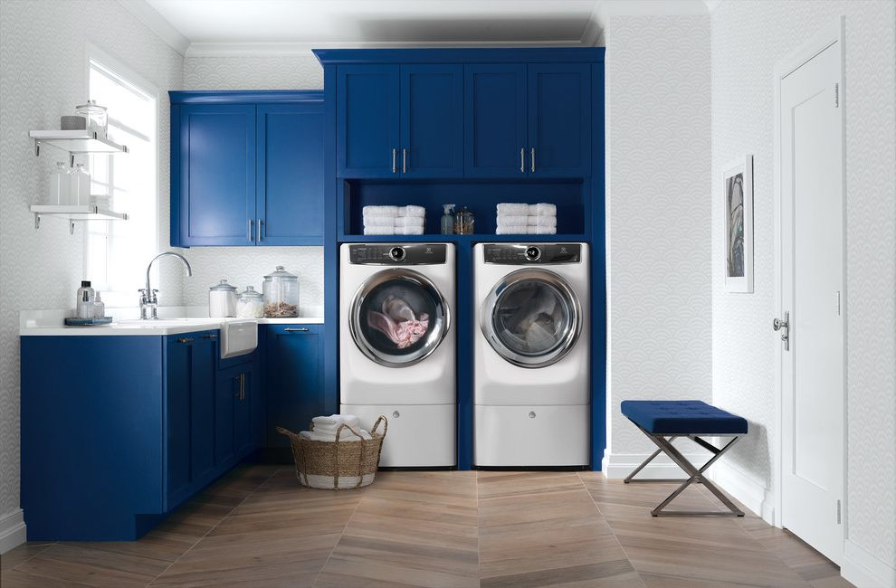 Kam Appliance with Modern Spaces  and Front Load Laundry Laundry Laundry Products Laundry Room Appliances
