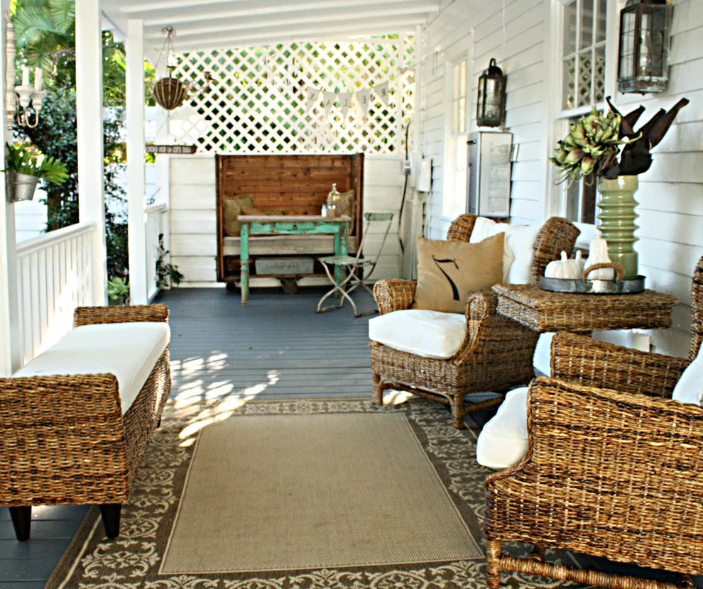 Kanes Furniture Tampa with Eclectic Porch  and Backyard Retreat Outside Seating