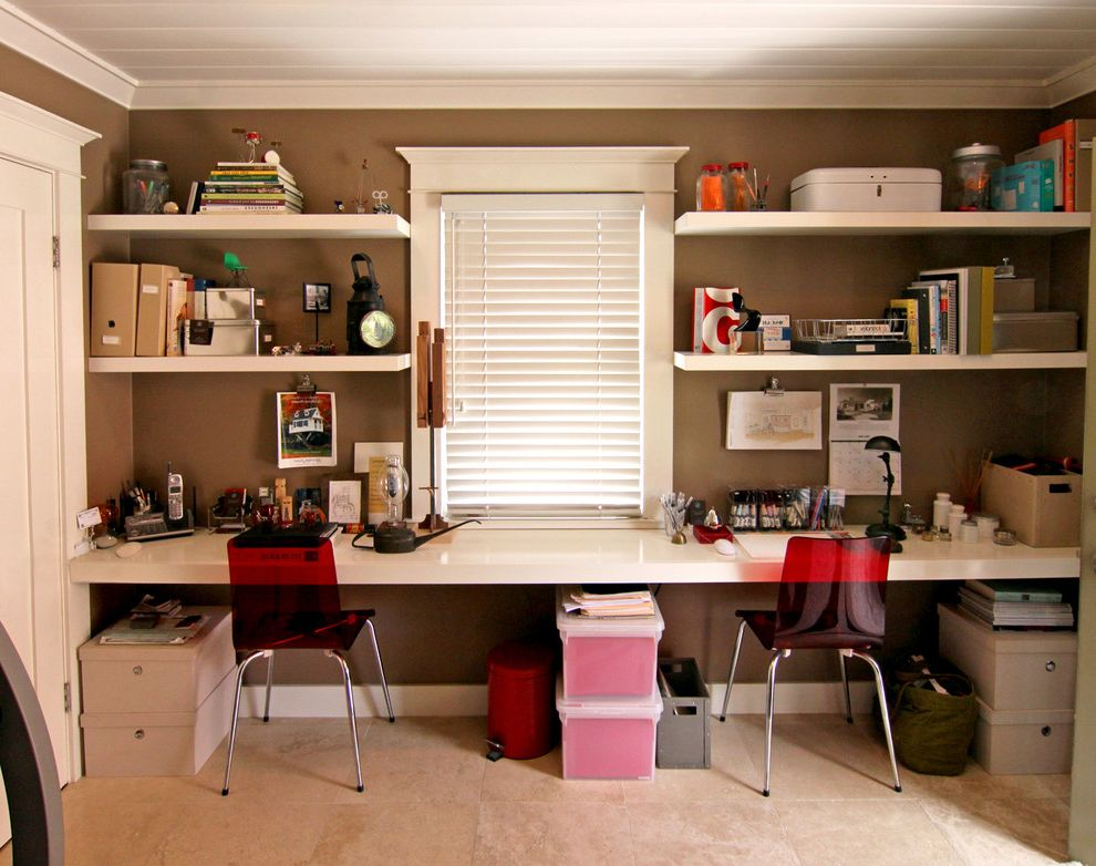 Kate Spade Office Supplies with Transitional Home Office Also Home Office Red Chair