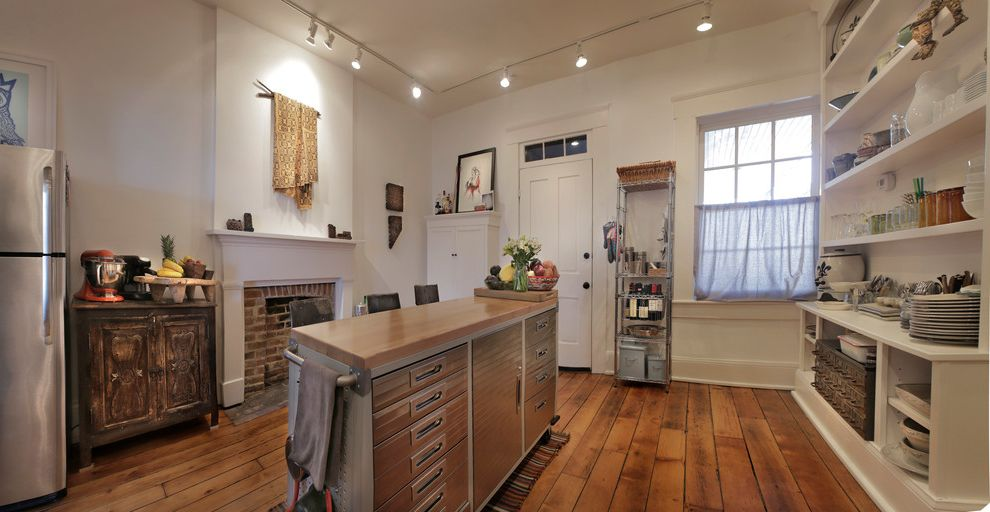 Kegerator Sams Club with Eclectic Kitchen Also Hardwood Flooring Open Shelf Open Storage White Wall Work Station