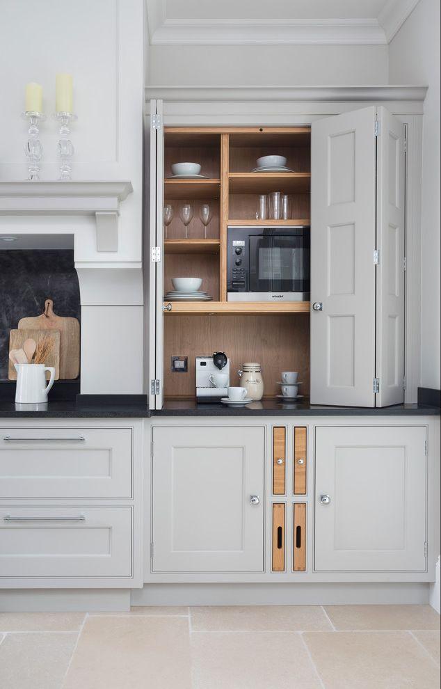 Kettle Moraine Appliance   Transitional Kitchen  and Aga Bespoke Kitchen Classic Design Classic Kitchen Grey Kitchen Kitchen Cabinetry Kitchen Furniture Kitchen Island Lighting Larder Larder Cupboard Utility Room Sinks