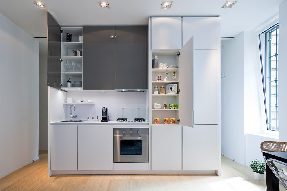 Kirklands Mobile Al Contemporary Kitchen and Cucina Bianca E Grigia ...
