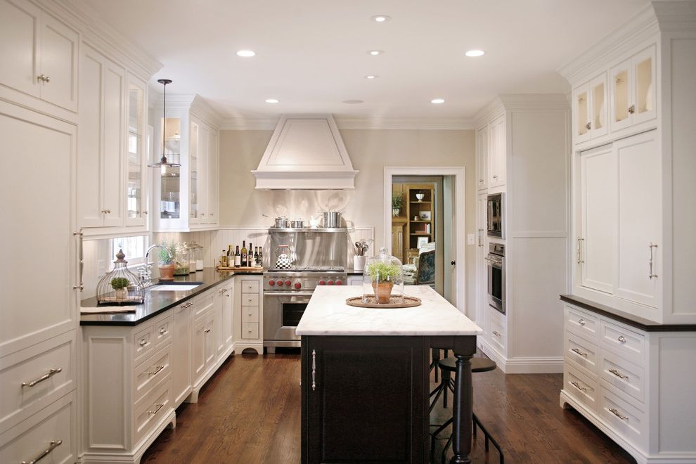 Kitchen Remodeling Atlanta Ga with Traditional Kitchen  and Counter Stools Georgia Kitchens Georgia Remodeler Kitchen Island Kitchen Remodel Atlanta Range Vent White Kitchen Wood Floors