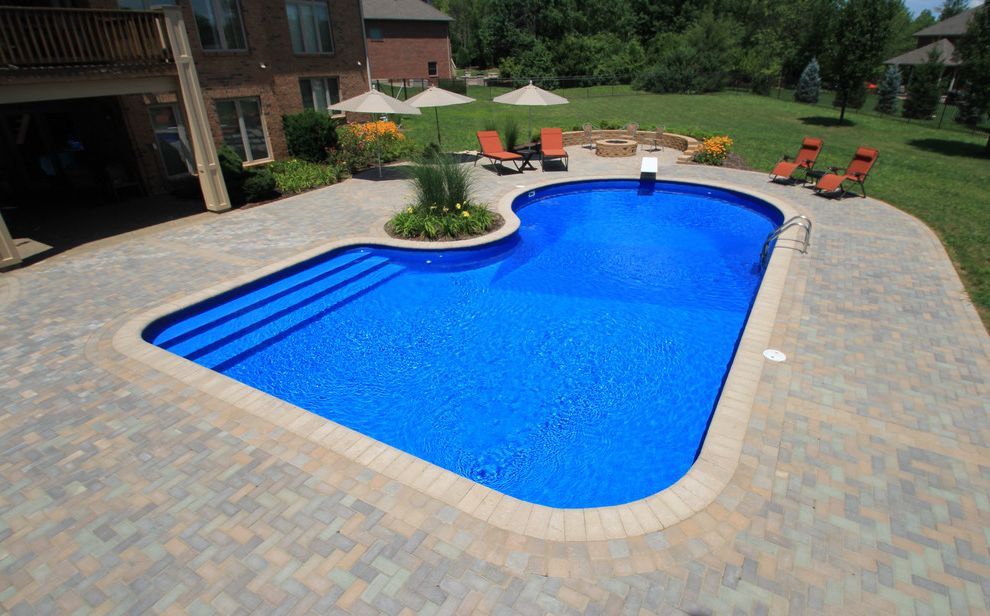 Knickerbocker Pools with Traditional Pool  and Beautiful Pools Paving Stones Walling