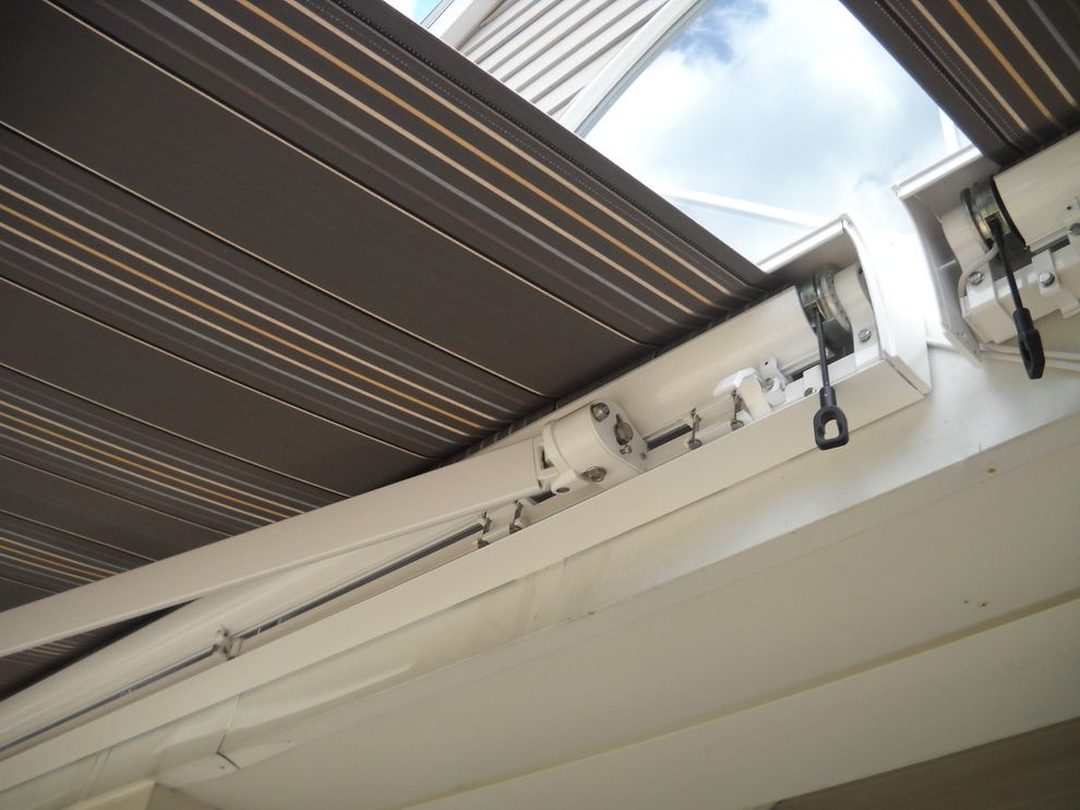 Kohler Awning   Transitional Spaces Also Premier by Eclipse Retractable Awning Somfy Motors