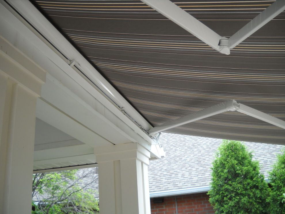 Kohler Awning   Transitional Spaces  and Premier by Eclipse Retractable Awning Somfy Motors
