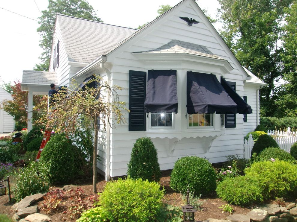 Kohler Awning with Traditional Spaces  and Sunbrella Window Awnings