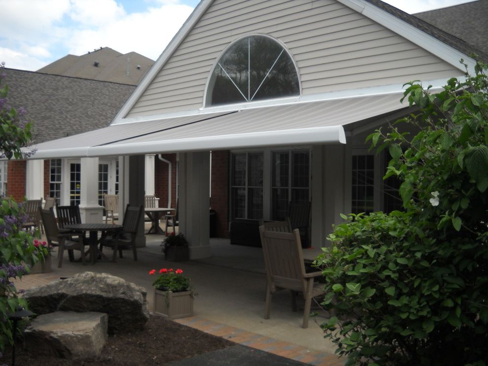 Kohler Awning with Transitional Spaces Also Premier by Eclipse Retractable Awning Somfy Motors