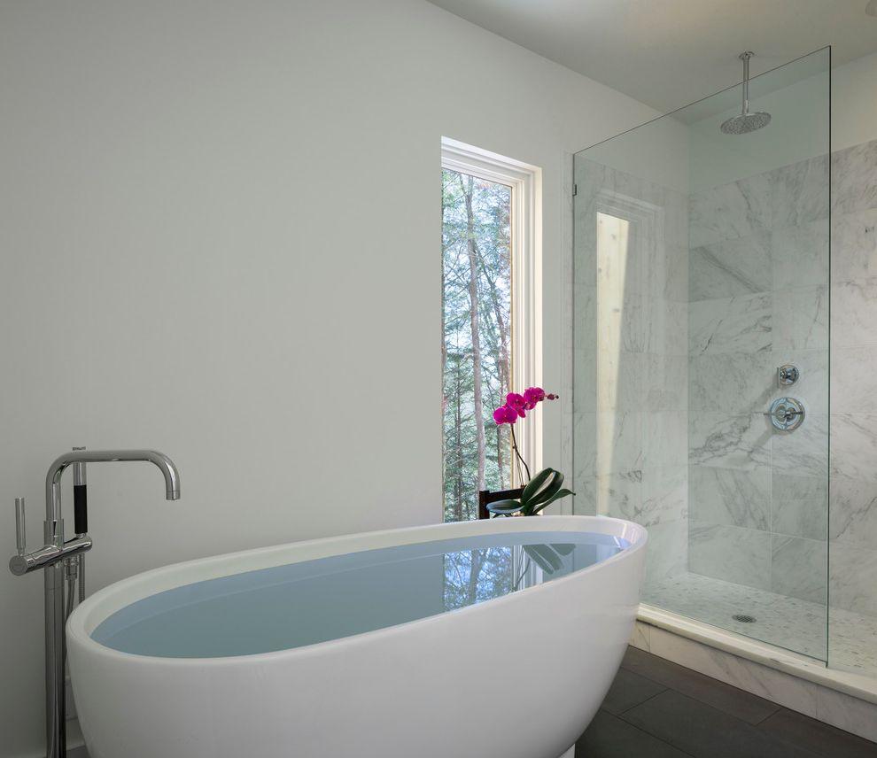 Kohler Villager Tub Modern Bathroom Also Awning Windows Glass Shower ...