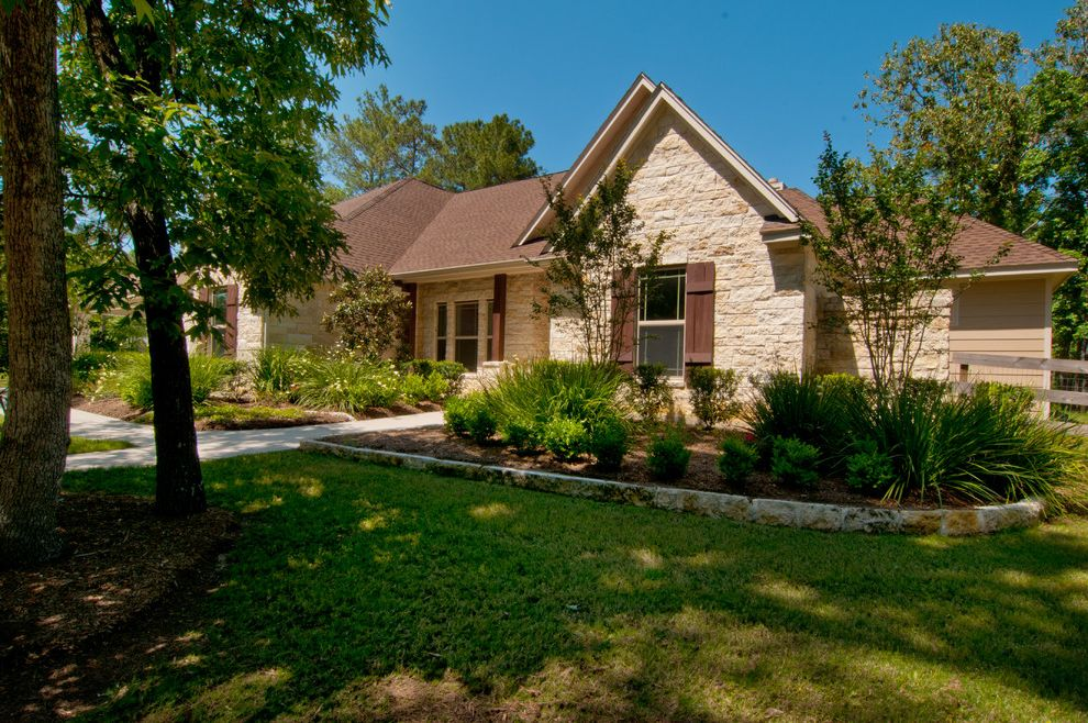 Kurk Homes with Traditional Exterior Also Custom Texas Ranch Style Home Stone With