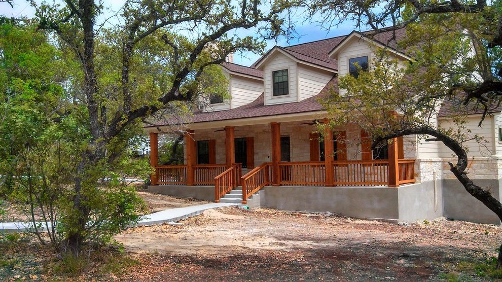 Kurk Homes with Traditional Exterior  and Cedar Hill Country Porch Rustic Texan Texas