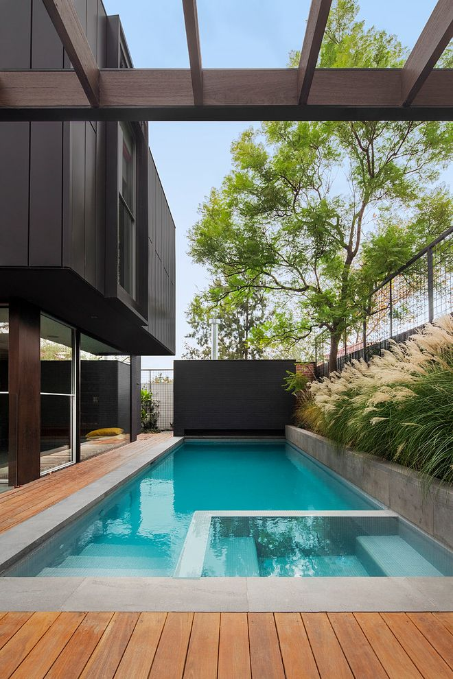 La Belle Day Spa   Contemporary Pool Also Architecture Black Exterior Clean Lines Design Floor to Ceiling Windows Glass Mosaics Inspiration Landscape Design Landscapes Melbourne Pergola Pool Builder Pools Summer Tiles