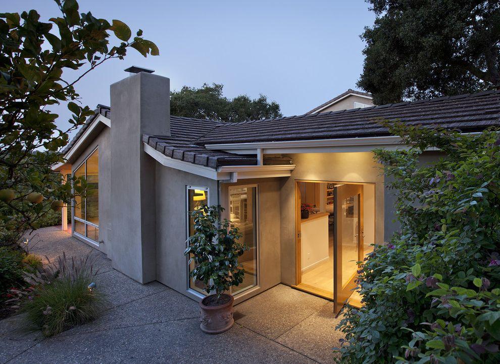 La Habra Stucco   Contemporary Exterior Also Allen Construction Entry Exterior Pivot Door Santa Barbara
