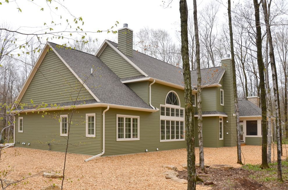 Landmark Weathered Wood   Traditional Exterior Also Door County Exterior Showcase of Homes