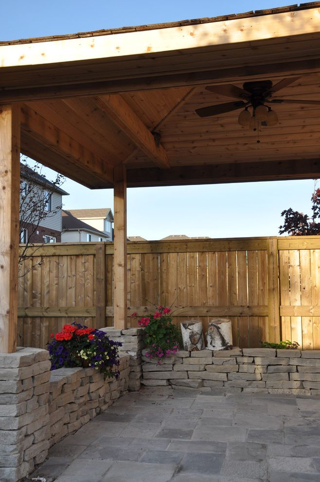Landscapers Depot   Traditional Landscape  and Covered Patio Creative Landscape Depot Garden Walls Indoor Outdoor Living Pergola Square Cut Flagstone Stone Pillar Stone Step