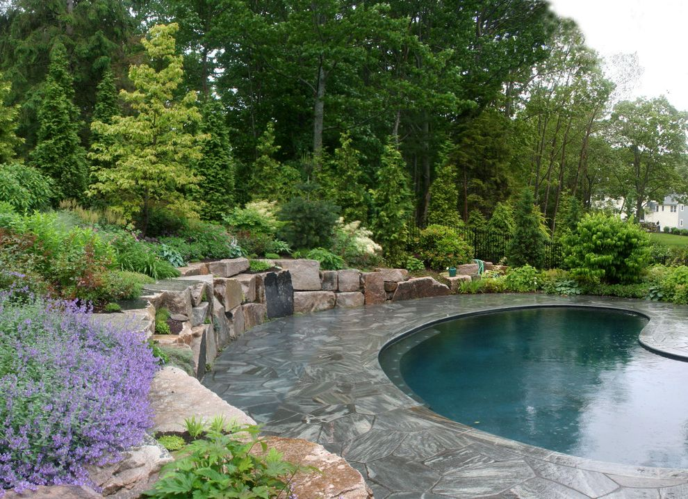 Landscaping Companies Indianapolis with Rustic Pool Also Boulders Evergreen Hillside Pavers Planters Pool Deck Retaining Wall Rock Wall Rocks Rustic Seat Wall Slope Stone Paving