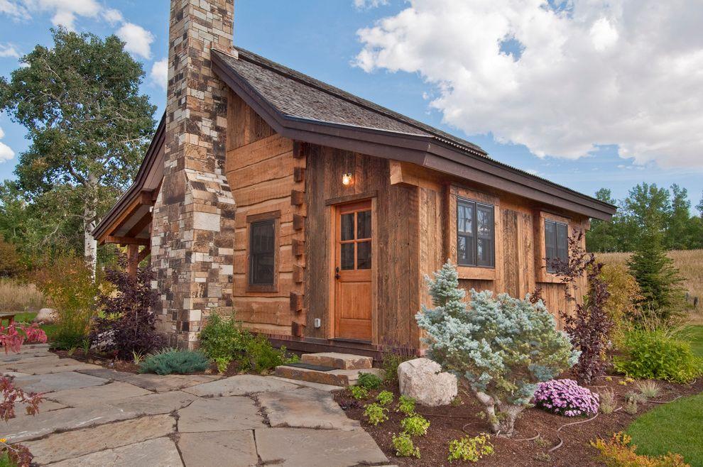 Landscaping Rock Louisville Ky with Rustic Exterior  and Barnwood Cabin Chimney Flooring Pavers Products Reclaimed Rustic Siding Small Space Stone Chimney Timbers Wood Wood Siding