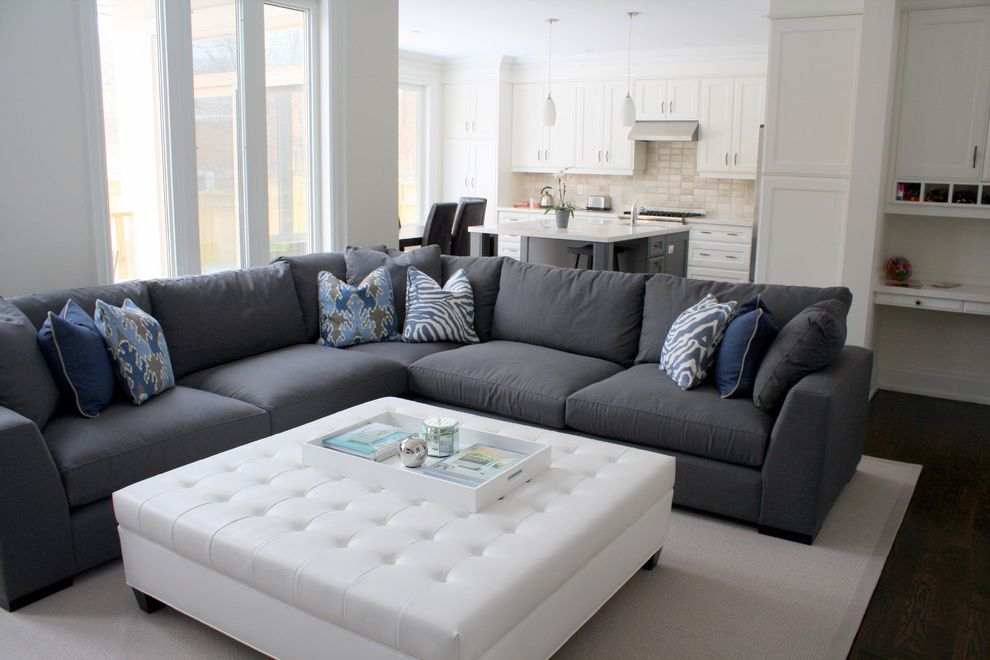 Large Sectional Sofa with Ottoman for Traditional Family Room Also
