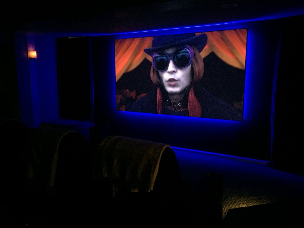 Leawood Theater   Modern Home Theater  and Audio Home Theater Projection Screen Projector Surround Sound