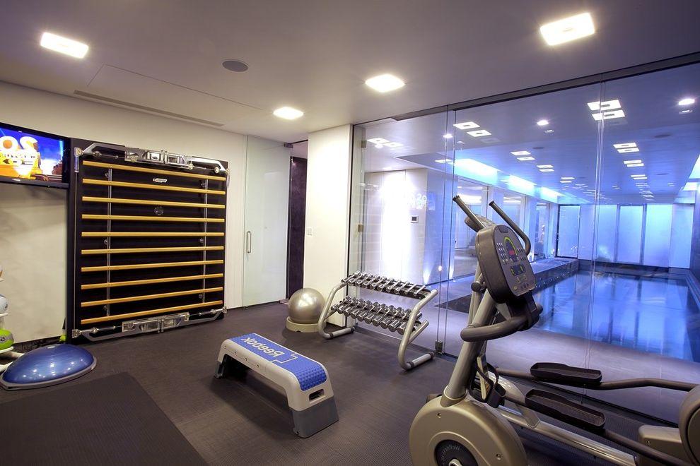 Leisure Time Pools Okc   Modern Home Gym  and Modern