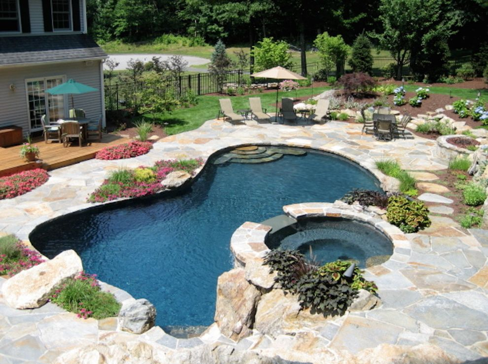 Leisure Time Pools Okc    Pool Also Backyard Pool Custom Pools Outdoor Landscape Outdoor Living Outside Pool