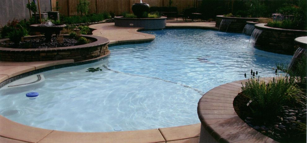 Leisure Time Pools Okc with  Pool  and Backyard Pool Custom Pools Outdoor Landscape Outdoor Living Outside Pool