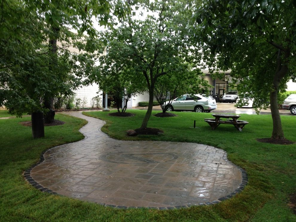 Lexus of Ann Arbor with Modern Landscape Also Beacon Hill Pavers Inlay Design Outdoor Seating Area