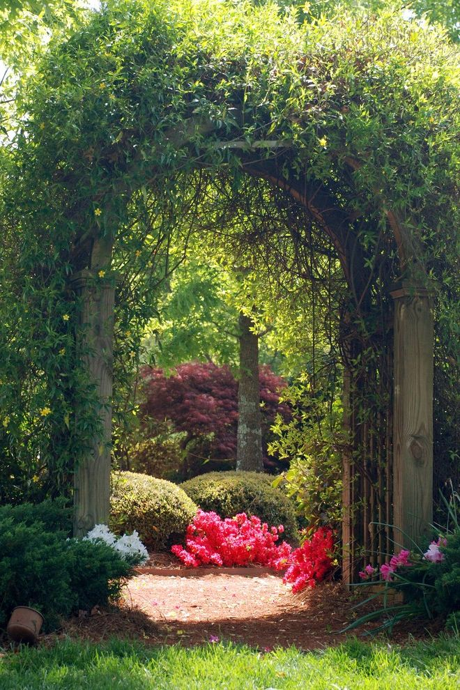 Lexus of Ann Arbor with Traditional Landscape Also Arbor Arch Azalea Covered Arbor Garden Garden Entry Japanese Maple Pink Flowers Southern Plants Vines