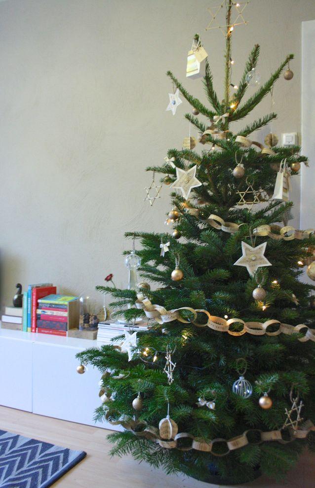 Lifelike Artificial Christmas Trees   Contemporary Living Room Also Christmas