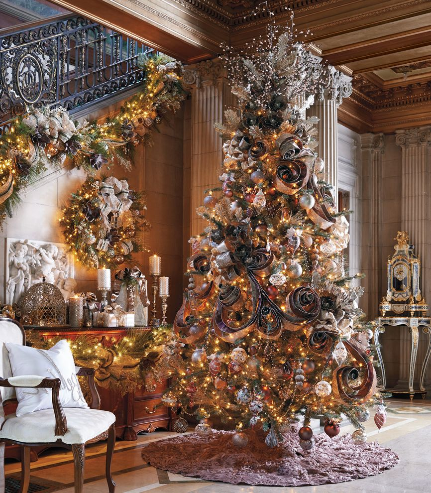 Lifelike Artificial Christmas Trees   Traditional Living Room Also Traditional
