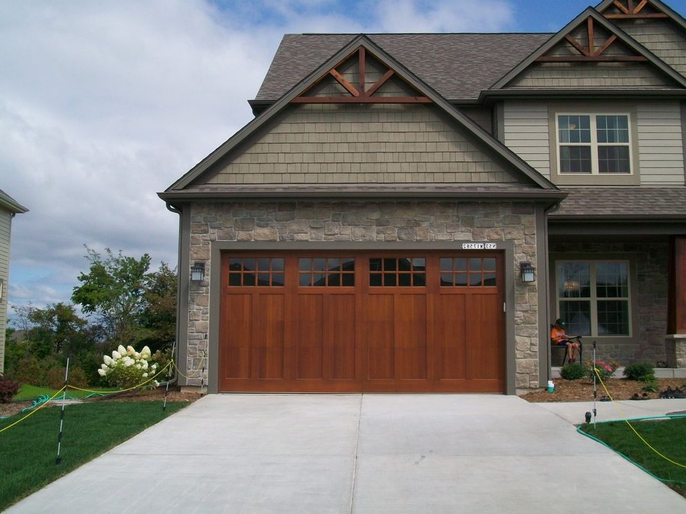 Lifetime door company with industrial living room also for American garage builders