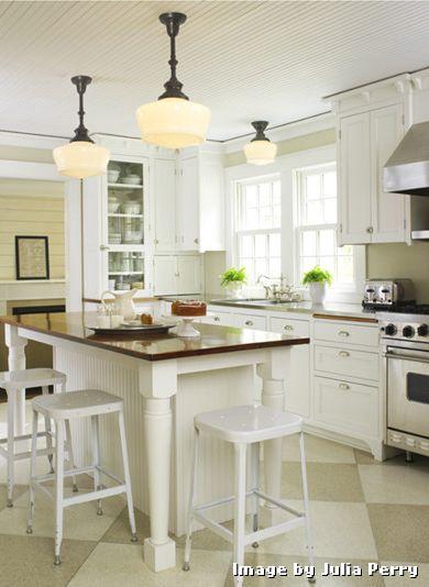 Linoleum Floor Tiles with Traditional Kitchen and Farm Farmhouse Schoolhouse White Kitchen