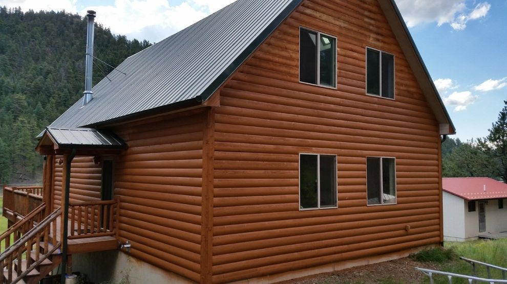 Log Cabin Stain   Rustic Spaces Also Exterior Painting Log Cabin Stain