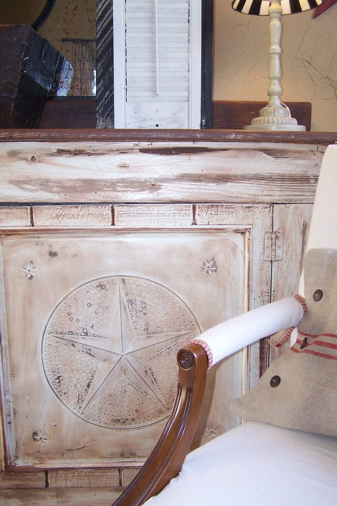Lone Star Auctions   Shabby Chic Style Spaces  and Armoire Bar Game Room Painted Wood Rustic Saloon Shabby Chic Star