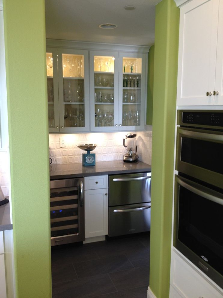 Lowes Aliso Viejo   Contemporary Kitchen  and Daimond Cabinets Farm Sink Silestone