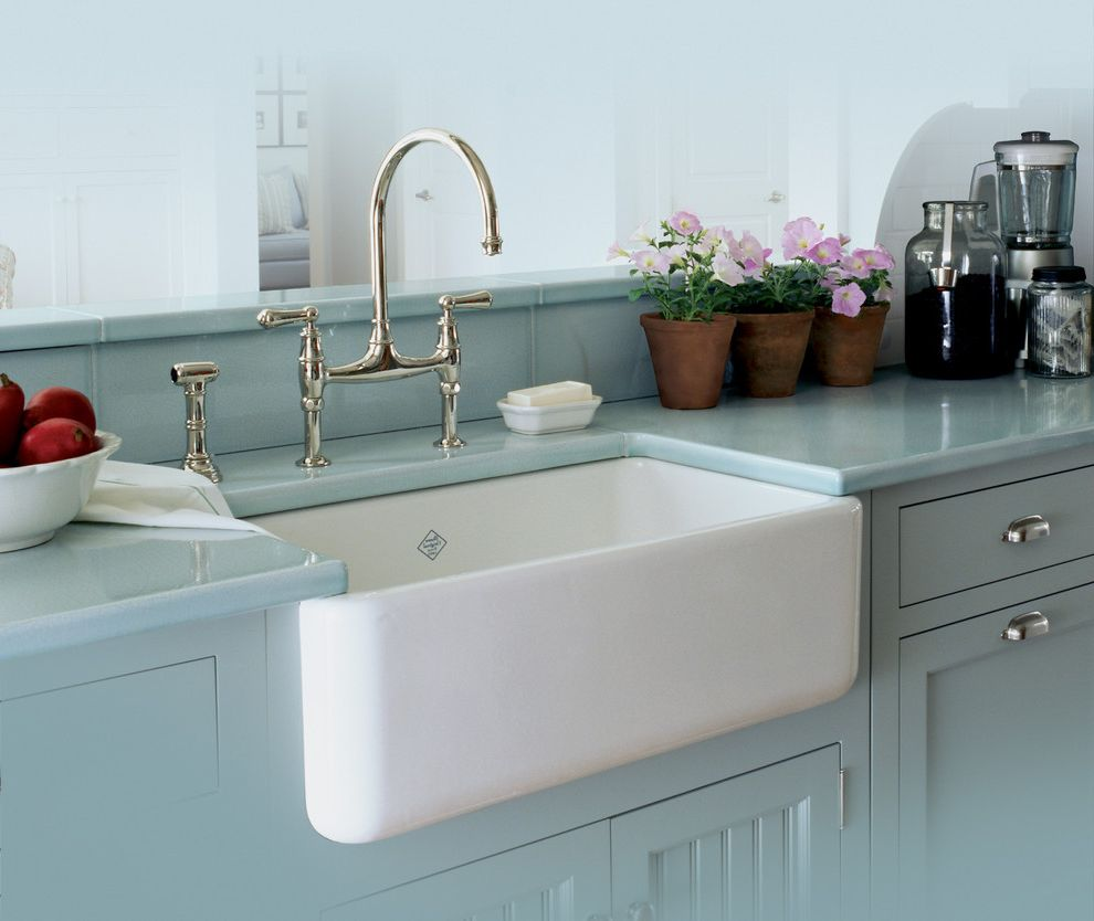 Lowes Apron with Shabby-Chic Style Kitchen and Apron Sink Country ...