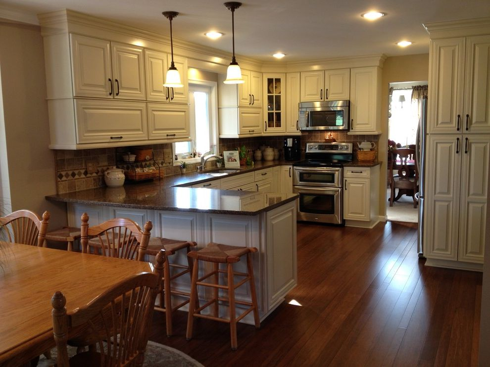 Lowes Avondale Pa   Traditional Kitchen  and Bamboo Kitchen Quartz Remodel Shenandoah