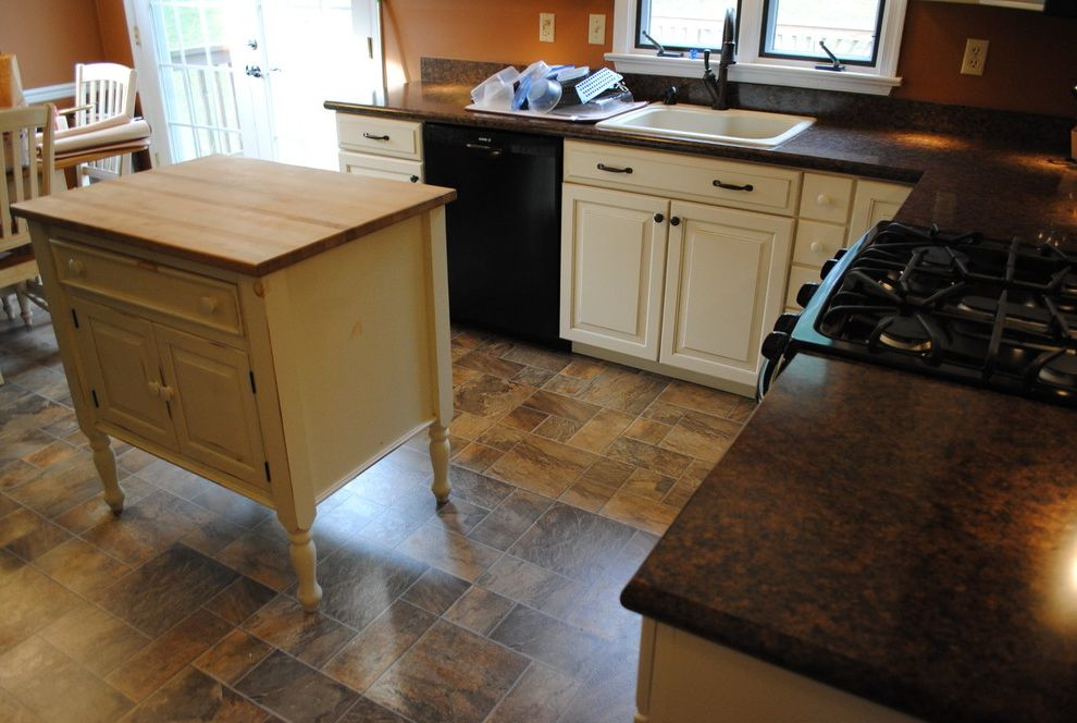 Lowes Avondale Pa with Traditional Kitchen  and Black Appliances Glazed Cabinets Laminate Countertop Laminate Tile Floor Laminate Tile Floorshenandoah Oil Rubbed Bronze Fixtures Painted Cabinets Shenandoah Wilsonart