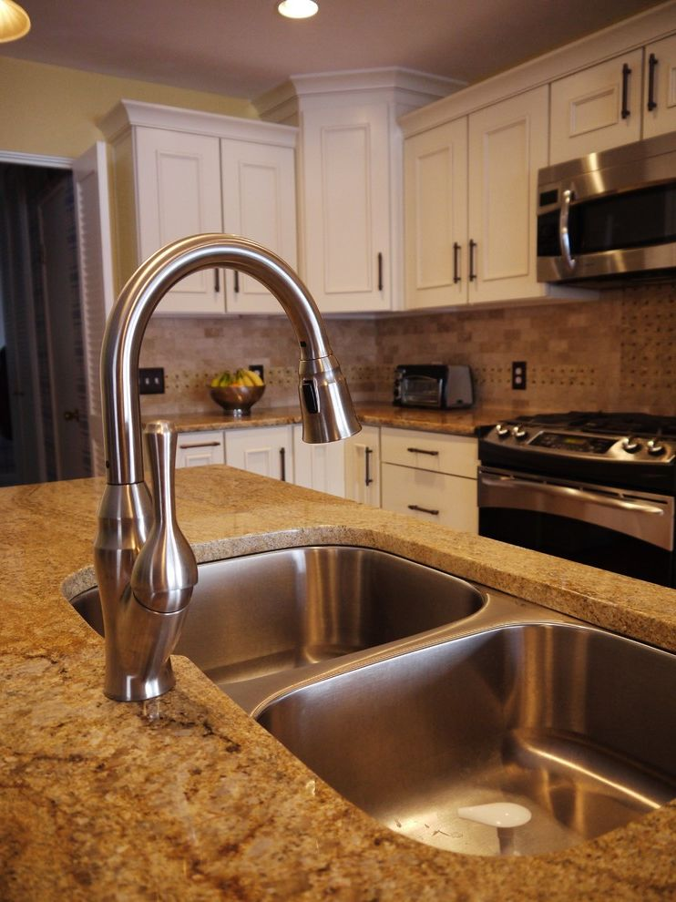 Lowes Battle Creek Mi   Transitional Kitchen Also Faucets Granite Mid Continent Cabinetry Under Mount Sinks White Cabinets