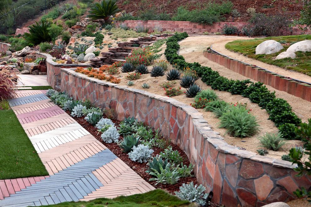 Lowes Brunswick Ga   Mediterranean Landscape Also Better Landscape and Gardens Garden Designs Hillside Landscaping Landscape Design San Diego Slope Landscape Ideas Steep Hill Gardening Ideas
