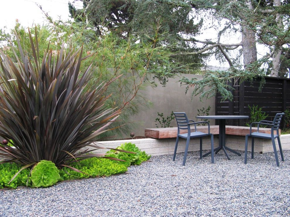 Lowes Chandler Az   Modern Landscape Also Bench Fence Garden Seating Garden Wall Gravel Stucco Fence Wall Wood Bench