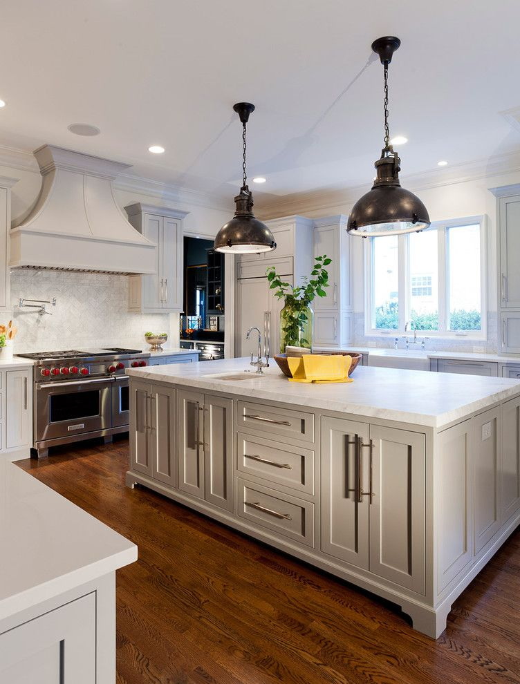 Lowes Charlotte Nc with Traditional Kitchen  and Backsplash Kitchen Cabinets Kitchen Countertops Kitchen Island Pendant Lighting Vent Hood White Cabinets Wolf Appliances Wood Floors
